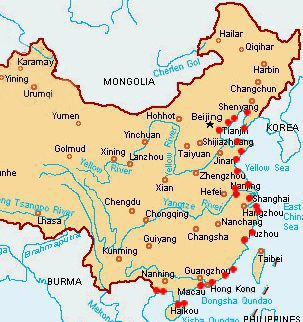Map of China Ports